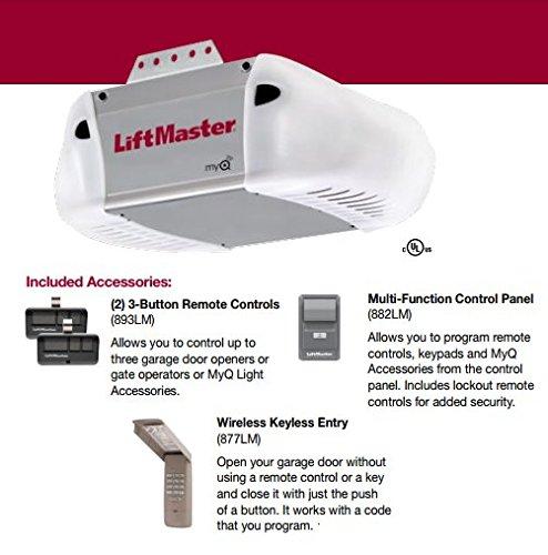 LiftMaster 8365-267 Premium Series 1/2 HP AC Chain Drive Garage Door Opener, Chain/Rails Sold - Drive Ac Series