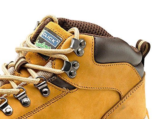 Click Workwear Mens Nubuck Leather Lightweight Chukka Safety Work Boot - Size 6