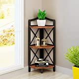 Floor Standing Bedroom Bookshelf Living Room Corner Rack Simple Creative Flower Racks Color Size Optional (Color : Color-1, Size : 3 layers)