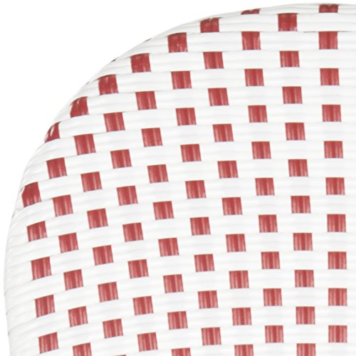 Safavieh Home Collection Hooper Red & White Indoor-Outdoor Stacking Arm Chair by Safavieh (Image #5)