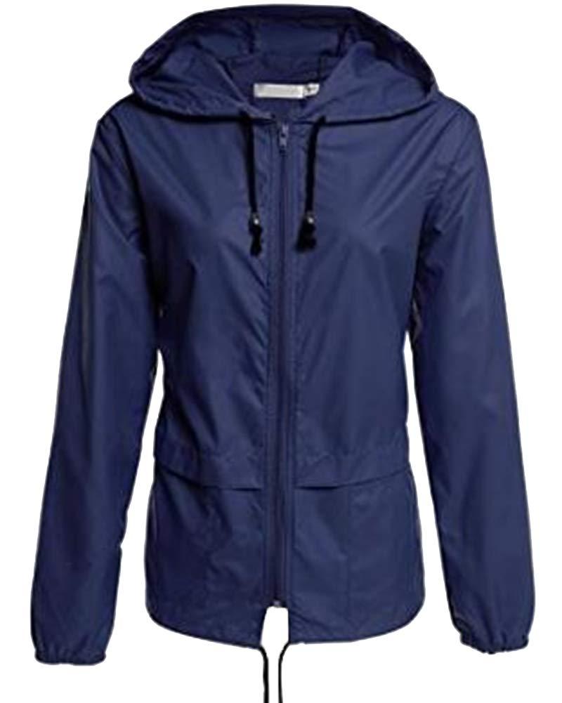 Women Mac Showerproof Parka Jacket Hooded Lightweight Shower Proof Rain Coat