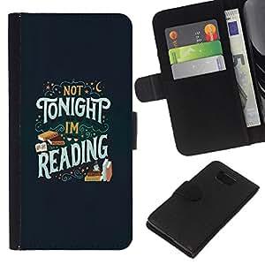 EJOY---La carpeta del tirón la caja de cuero de alta calidad de la PU Caso protector / Samsung ALPHA G850 / --Esta noche Libro de lectura del libro de texto