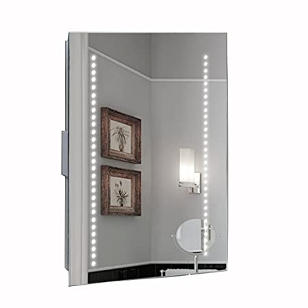 Hapilife 60 Led Illuminated Bathroom Mirror Demister Pad Shaver