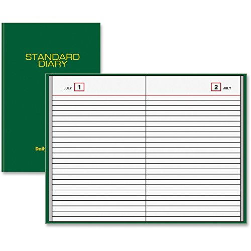 Diary Undated Daily Reminder, 6 x 8.75 x 1-Inches, Green (SDU389-03) (Standard Daily Business Diary)