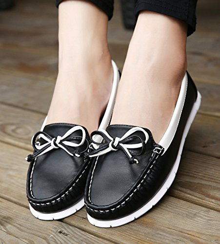 Dqq Mujeres Stretch Slip-on Loafer Flat Zapatos Black