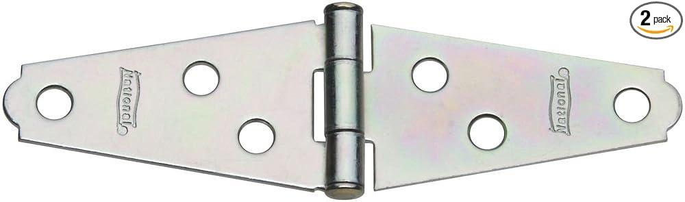 Zinc Light Strap Hinge National Hardware  N127-431 12 Pack 280BC 3 in