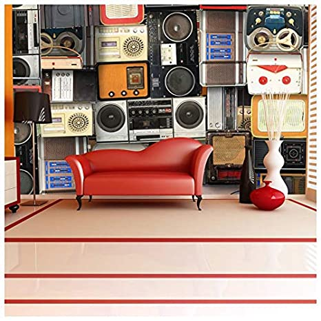 Azutura Retro Music Wall Mural Vintage Cassette Tapes Photo Wallpaper Bedroom Home Decor Available In 8 Sizes X Small Digital