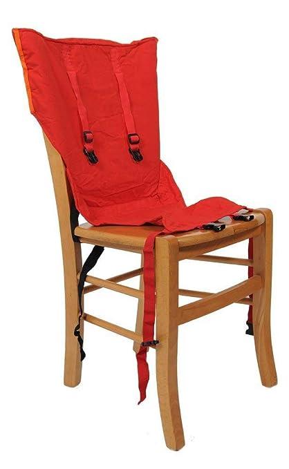 Asiento Sackn, asiento acolchado para la silla de los niños, Rojo (rot)