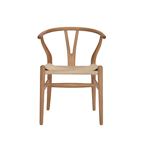 Pleasant Tomile Wishbone Chair Y Chair Solid Wood Dining Chairs Rattan Armchair Natural Beech Natural Wood Color Ibusinesslaw Wood Chair Design Ideas Ibusinesslaworg