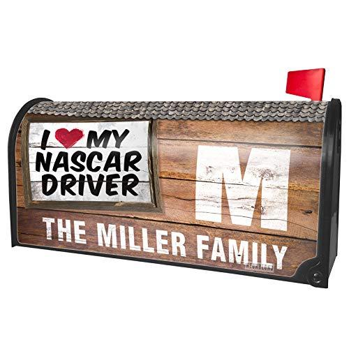 NEONBLOND Custom Mailbox Cover I Heart Love My Nascar Driver]()
