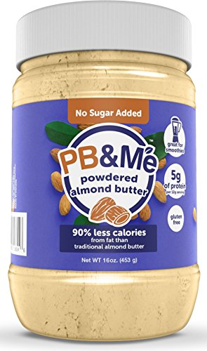 - PB&Me Powdered Almond Butter, Keto Snack, Gluten Free, Plant Protein, No Sugar Added, 16 Ounce