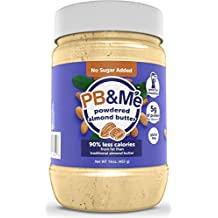 PB&Me All Natural Powdered Almond Butter, No Sugar Added, Gluten Free, Plant Protein, 16 oz