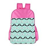 Clarissa Bertha Dachshund Wallpaper School Girls Boys Kids Backpacks Bags