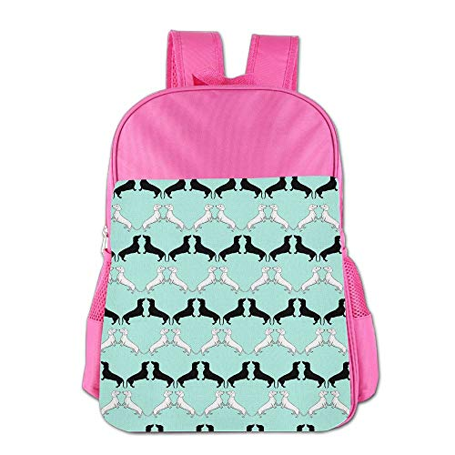 Clarissa Bertha Dachshund Wallpaper School Girls Boys Kids Backpacks Bags by Clarissa Bertha