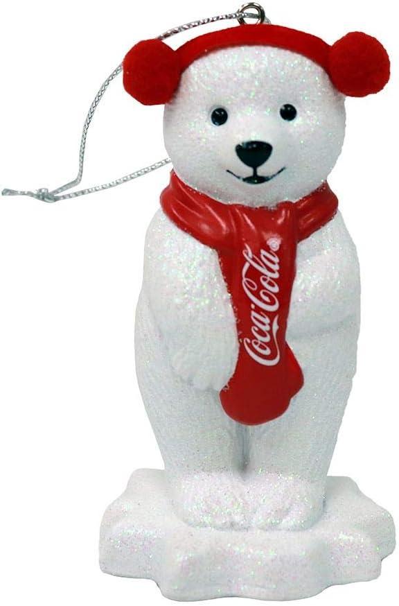 Kurt Adler Coca Cola Polar Bear with Ear Muffs Ornament