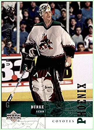 2002-03 Upper Deck UD SuperStars #11 Sean Burke PHOENIX ARIZONA COYOTES at  Amazon's Sports Collectibles Store