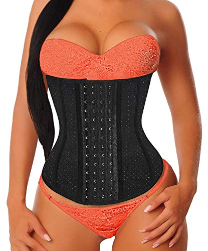 YIANNA Women's 4-Hooks Latex Breathable Waist Trainer/Cincher/Corsets Shaper Weight Loss Sports Girdle, ()