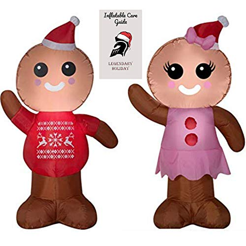 Christmas Gingerbread Man and Woman Inflatable Bundle 2018