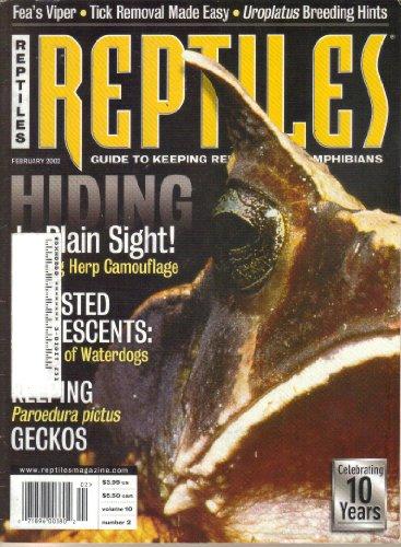 - Reptiles Magazine, Vol. 10, No. 2 (February, 2002) (ISSN: 1068-1965)