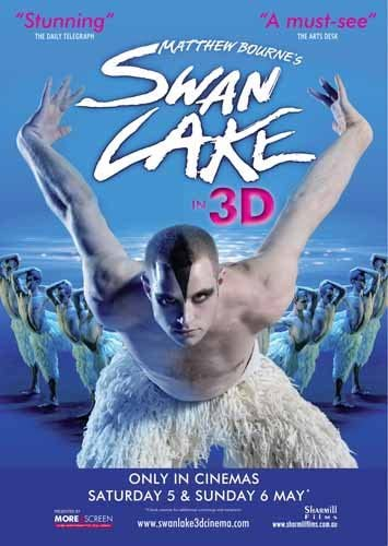 ポスター アクリルフォトスタンド入り A4 マシュー・ボーンの「白鳥の湖」3D 光沢プリント