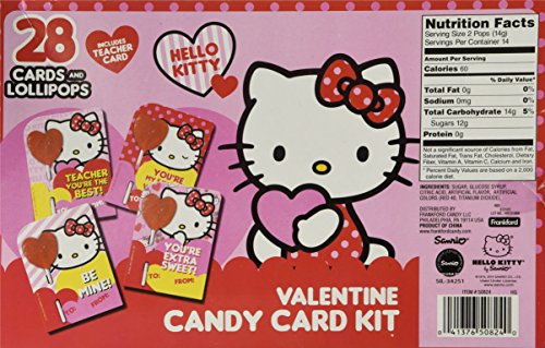 Hello Kitty Valentines Day Candy Card Kit 28 Cards And Import It All