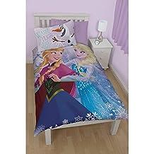 Disney Frozen Childrens/Kids Warm Hugs Reversible Single Duvet Cover Bedding Set (Twin) (Multi Coloured)