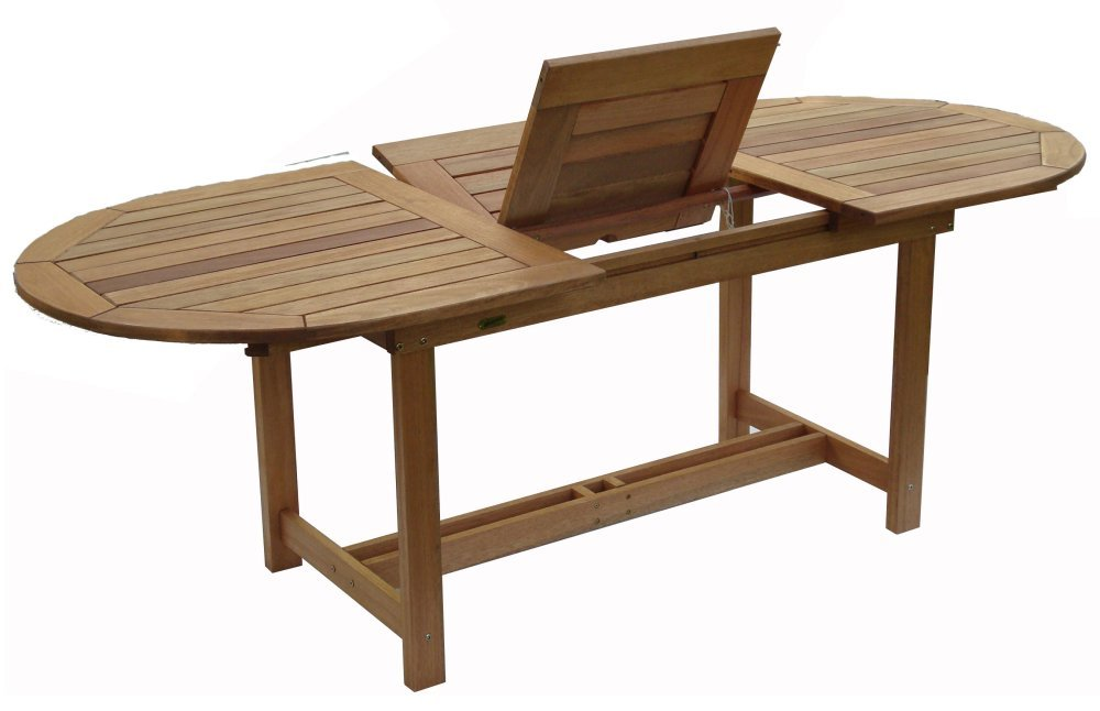 Patio Outdoor Table - Milano Extendable Table - Eucalyptus Wood - Wood Finish - INT-BT-360