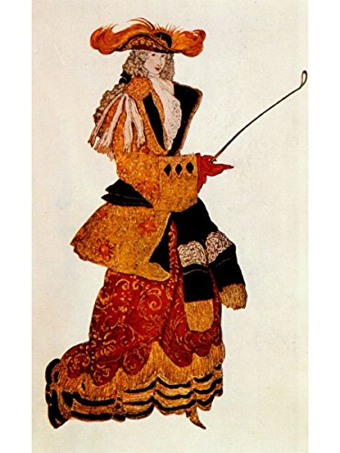 Costume Design for The Marchioness Hunting, from Sleeping Beauty by Leon Bakst -