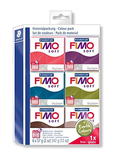 Staedtler Fimo Soft 802327Modelling Clay 6Regular Pads Earth Color