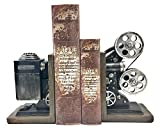 Bellaa 20904 Vintage Camera Bookends Film Movie Projector Black Silver Collector's Items