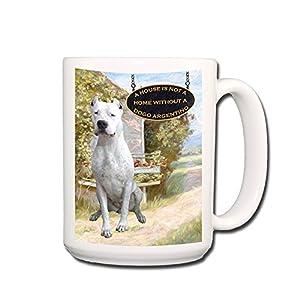 Dogo Argentino A House Is Not A Home Coffee Tea Mug 15 oz 34