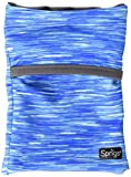 Sprigs Unisex Banjees 2 Pocket Wrist Wallet for Travel, Running, Hiking, Blue Melange/Gray, One Size Fits Most