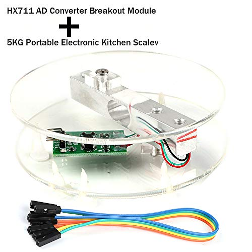 MakerHawk Digital Load Cell Weight Sensor HX711 AD Converter Breakout  Module 5KG Portable Electronic Kitchen Scale for Arduino Scale