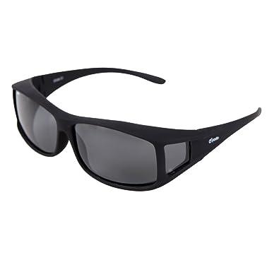 Yodo Über-Brille Sonnenbrille mit polarisierten Gläsern für Männer und Frauen,Schwarze