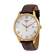 Tissot T0636103603800 Tradition Leather Mens Watch - Silver Dial