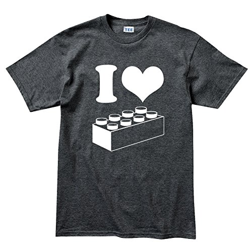 Price comparison product image I Love Brick Games T Shirt L Heather Charcoal