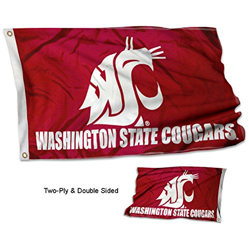 College Flags and Banners Co. Washington State Cougars Double Sided Flag