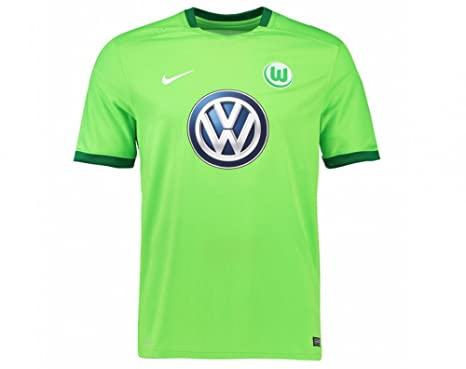 5a3c27a83d5a Amazon.com   NIKE 2016-2017 VFL Wolfsburg Home Shirt (Kids)   Sports ...