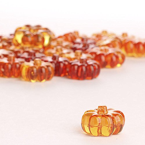 Factory Direct Craft Acrylic Pumpkin Table Scatters for Fall, Autumn and Thanksgiving]()