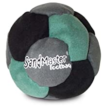 World Footbag SandMaster Hacky Sack Footbag, Green/Grey/Black