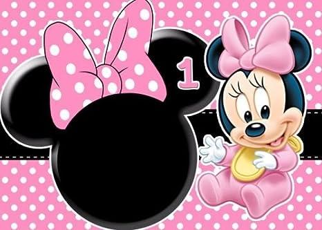 Amazon.com: cakeusa bebé Minnie Mouse primera imagen de ...