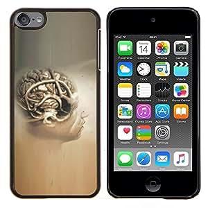 TECHCASE---Cubierta de la caja de protección para la piel dura ** Apple iPod Touch 6 6th Touch6 ** --Cerebro Humano Anatomía Arte Dibujo Pintura Cabeza