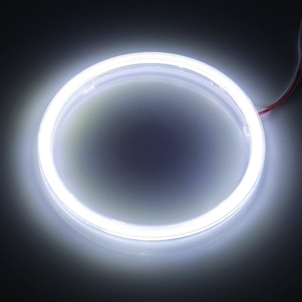 1/coppia auto bianco LED Angel Eyes Keenso LED fari Halo anelli COB lampada 12/V per moto auto