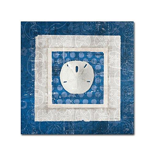 Sea Shell I on Blue Artwork by Belinda Aldrich, 35 by 35-Inch Canvas Wall Art ()