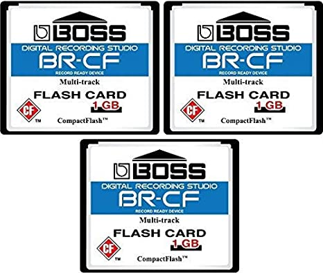 3-Pack 1GB Boss Roland BR-CF CompactFlash CF Memory Card for BR-600, BR-864, BR-900CD, MC-808 (3Pack)