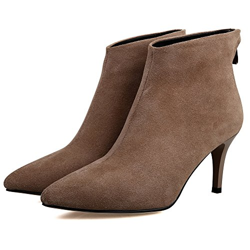 Comfort Solid Boots No Closure Microfiber BalaMasa apricot Womens SqZgw54xRE