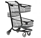 Advance Carts 90x-Black-10pack Xpress Series Shopping Cart, Powder Coat, 90 L (Pack of 10)