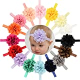 is there a wi - 16pcs Baby Girls Headbands Flowers Soft Hairbands for Baby Girls Infants Toddlers