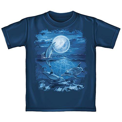 Moon Dolphins (Dolphins Moon Adult Tee Shirt (Adult XL))