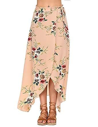 Imagen no disponible. Imagen no disponible del. Color  Moda Falda Larga  Estampada Flor Maxi Boho Verano para Mujer Vestido Pareo ... dc845c13da20